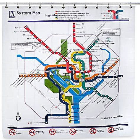 dc metro shower curtain washington dc transit map peva 72 inch x 72 inch shower