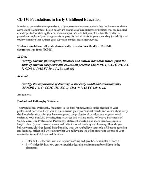 sles of resumes for early childhood teachers philosophy of early childhood education exles best