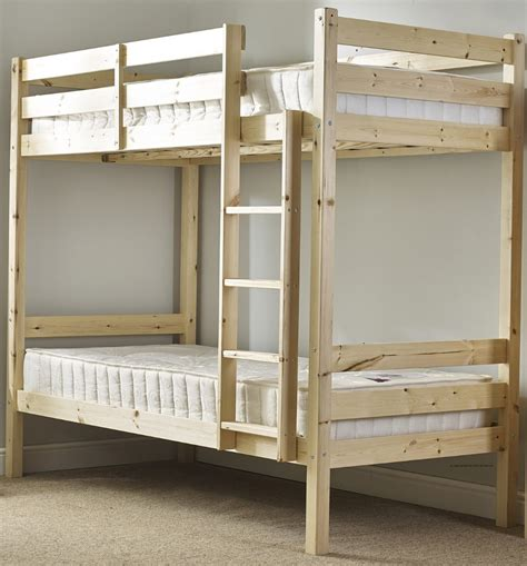 Small Single Bunk Beds Plato 2ft 6 Small Single Length Heavy Duty Solid Pine Bunk Bed