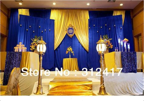 Event Decorations And Accessories by Top Selling Customized Royal Blue And Gold Backdrop For