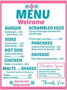 dinner menu ideas american diner menus part 2 american ideas