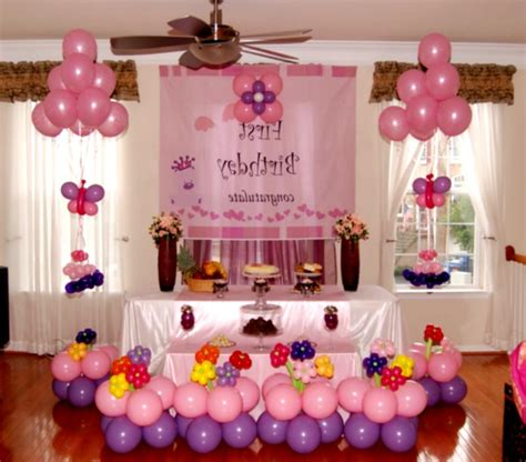 Birthday Decorations At Home by 1st Birthday Decoration Ideas At Home For Favor