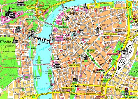 travel directions and map maps of prague detailed map of prague in maps