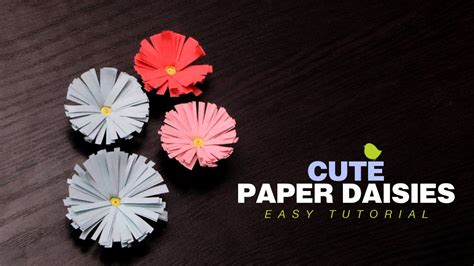Simple Paper Flowers For Children To Make - diy crafts how to make paper daisies easy paper flowers