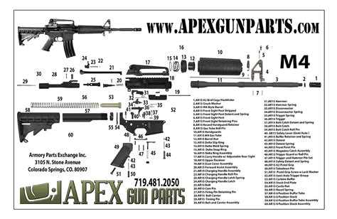 m4 parts diagram apex gun parts m4 rifle poster gun posters