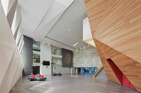 Modern Lobby Gallery Of Roberto Cantoral Cultural Center Broissin