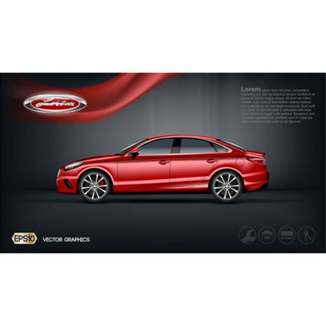 free automotive card template car brochure template vector free