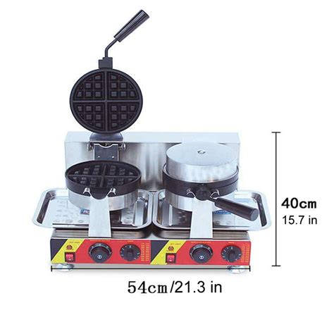 Waffel Maker Rotary Baking Maker electric dual rotary waffle baker maker machine commercial