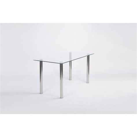 table salle a manger verre table de salle a manger cristaline verre blanche l 140 cm