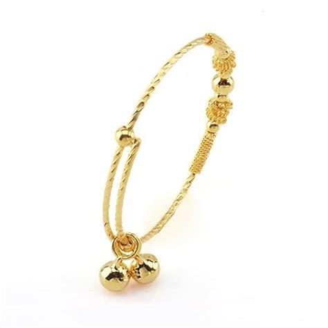 arrive fashion jewelry bangle baby dangle 18k yellow