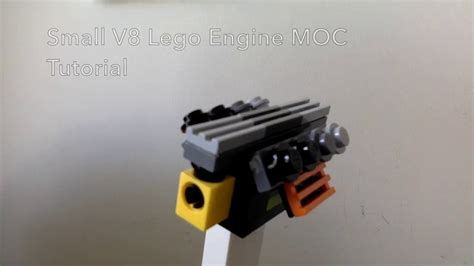 lego engine tutorial how to make a small lego v8 engine moc tutorial youtube