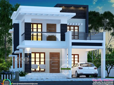 double storied house 13 lakhs kerala home design and 25 lakhs cost estimated double storied home kerala home