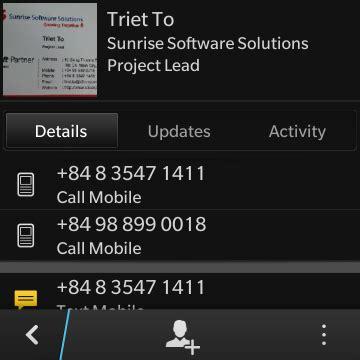 Blackberry Business Card Reader Free