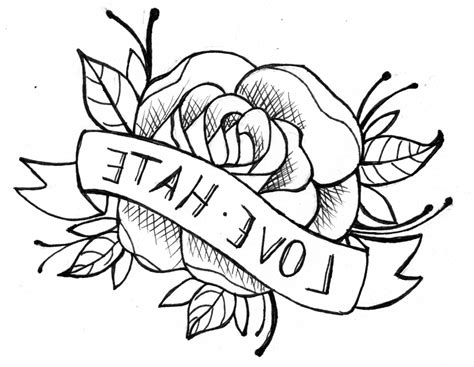 how to draw tattoo roses simple line drawing of a drawing gallery