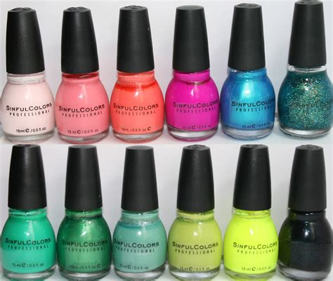 sinful colors vibrancy on a brush nail collection swatches