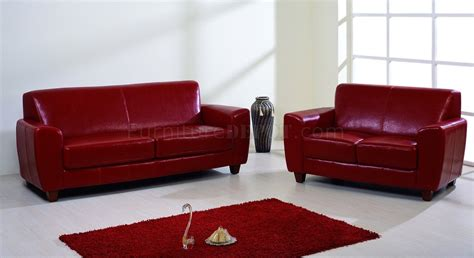 red and brown sofa red brown or black bycast leather contemporary sofa w options