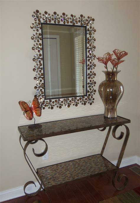 Entry Console Table With Mirror 1000 Images About My Pier 1 Home On Gerber Daisies Candle Holders And Mosaic Wall