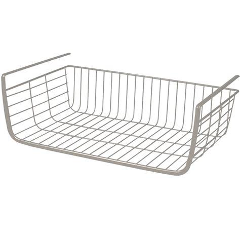 Wire Shelf Basket by Shelf Wire Basket In Shelf Storage Racks