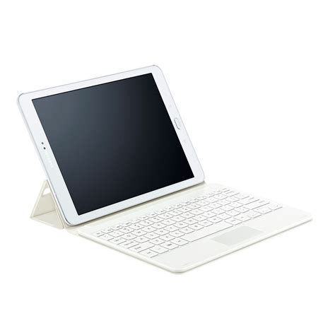 Samsung Tab S2 10 samsung book cover keyboard ej ft810f blanc pour galaxy