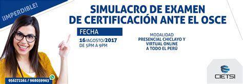 simulacro de examenes del touring lima peru cietsi diplomados cursos y talleres en chiclayo piura