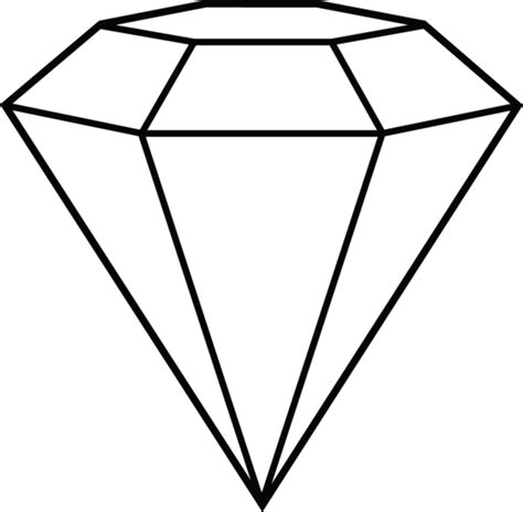 printable jewel shapes diamond line art shape inspiration diamond hat