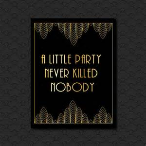 great gatsby black and gold art deco hollywood style a