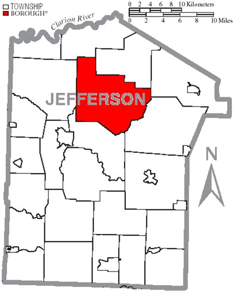 jefferson county section 8 file map of jefferson county pennsylvania highlighting