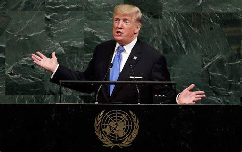 donald trump un speech trump s first speech before the un was an absurd
