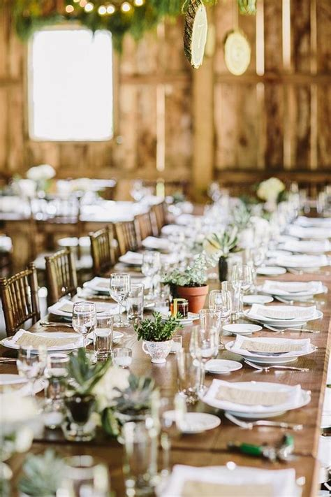 rustic wedding table ideas 30 barn wedding reception table decoration ideas deer pearl flowers