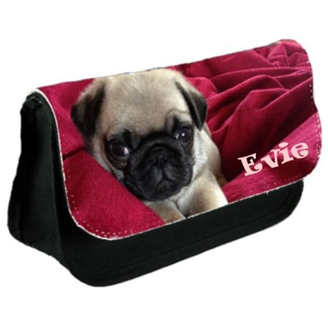 pug bag pug school pencil make up bag