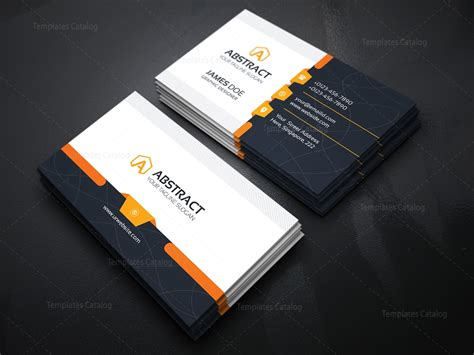 Template For Business Card by Corporate Business Card Template 000031 Template Catalog