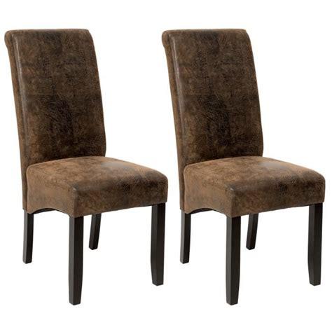 chaises salle à manger design 2 chaises de salle 224 manger design 105 cm marron aspect