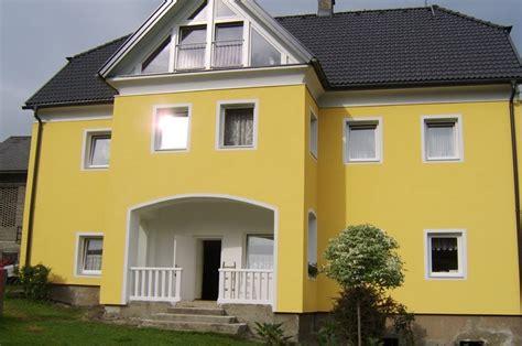 fassade gelb fassaden fassadengestaltung lavanttal wolfsberg