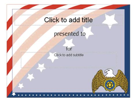 Award Certificate American Flag Design Free Certificate Templates In Academic Award Flag Certificate Template