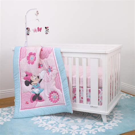 Minnie Crib Bedding Set Disney Minnie Mouse 3 Crib Bedding Set Ebay