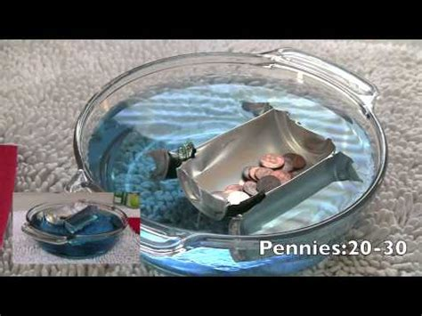 how to build a boat to hold pennies best boat to float some pennies youtube