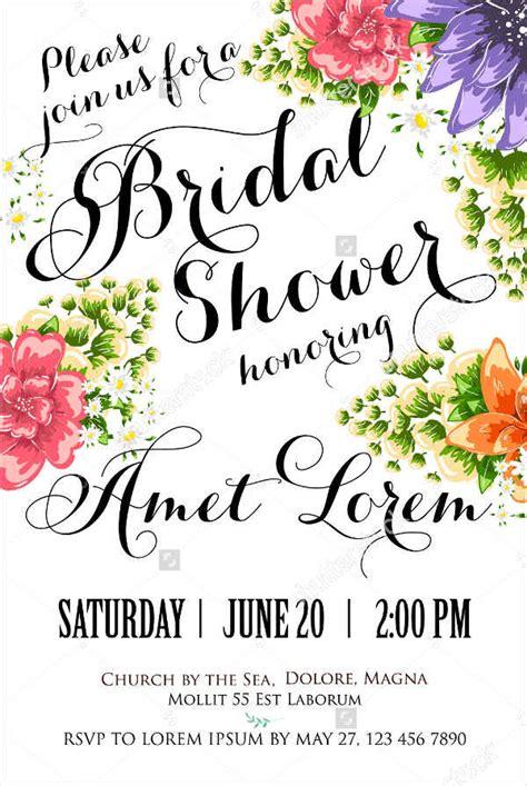 bridal shower invitations email sle wedding invitations free premium templates
