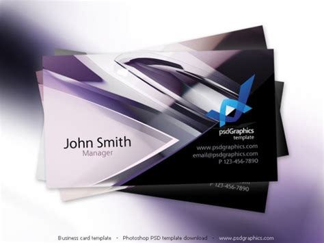 Abstract Hi Tech Design Business Card Template Psd File Free Download Tech Business Card Template