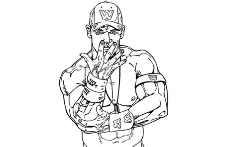 John Cena Cartoon Coloring Pages Cena Coloring Pages