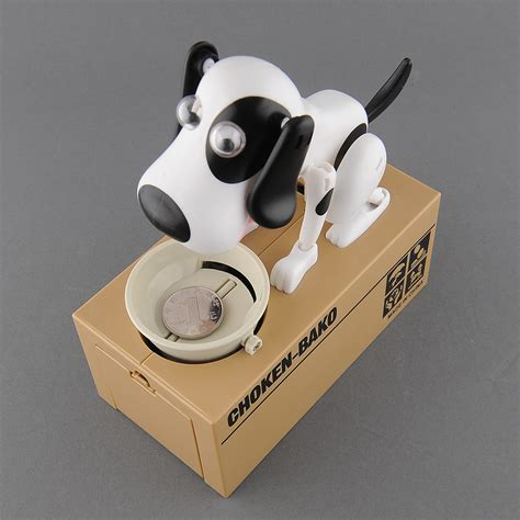 puppy piggy bank mechanical robotic hungry puppy munching coins piggy bank saving bank