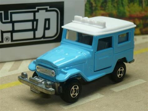 Tomica Land Cruiser Hardtop Fj40 Bigfoot Japan Toyota Land Cruiser Fj40 Tomica Tomy Jeep 4x4 Light Blue