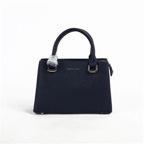 Tas Import Cm20610 jual tas branded ck top handle 25 cm navy blue murah kwalitas tas import pwshoponline