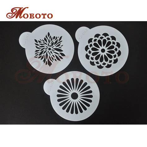 decoration stencils aliexpress buy new design modern flower cake side