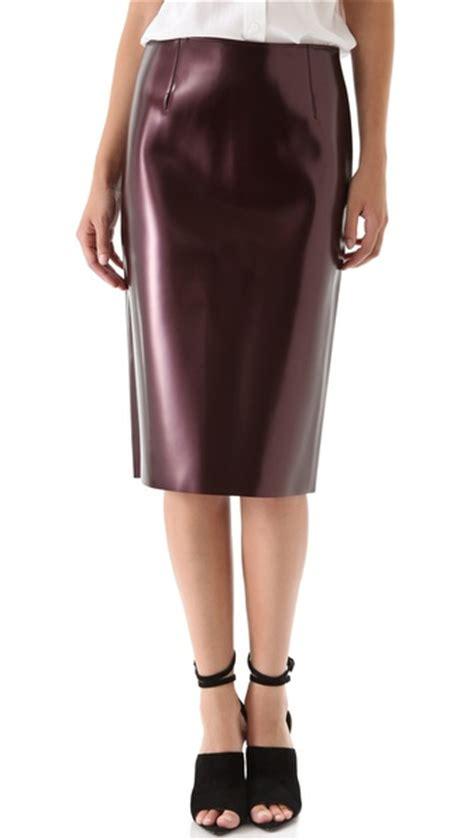 tibi vinyl pencil skirt shopbop