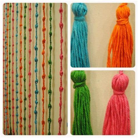 cortina de tiras de colores tejida al crochet  puertas  ventanas  mts de alto   mts