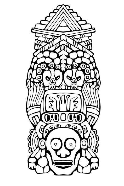 Totem Inspiration Inca Maya Azteque 3 Mayas Azt 232 Ques Et