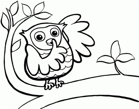 easy owl coloring page cartoon owl picture coloring home