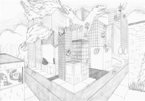 Drawing 2 Point Perspective by Jghs 2015 2016 Two Point Perspective Drawings