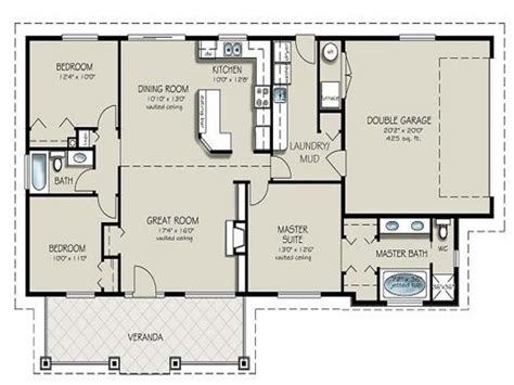 2 bedroom ranch floor plans two bedroom two bathroom apartment 4 bedroom 2 bath house
