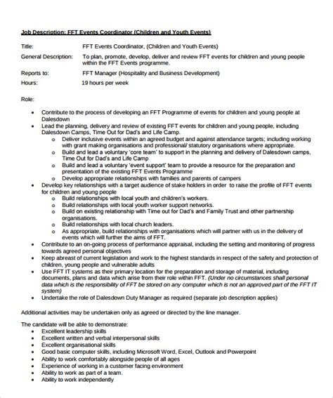 event coordinator resume 9 documents in pdf sle templates